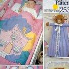 Vintage VOGUE Applique Crib Quilt pillow Diaper Bag Bumpers Pattern UNCUT