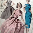 Vintage 8074 BATEAU NECKLINE FULL DRESS Pattern sz 14