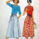 Vintage 5896 Ladies WRAP SKIRT Pattern sz S-M-L UNCUT
