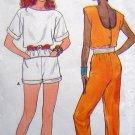 3183 Vintage Ladies Playsuit & Jumpsuit sz12-16 UNCUT