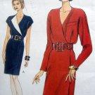 9035 Vogue MOCK WRAP DRESS PATTERN sz 12-16 UNCUT - 1994