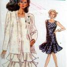 7202 Vogue JACKET & DROPPED WAIST DRESS PATTERN sz 8-12 UNCUT - 1988