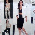 2565 Vogue Wardrobe Shirt Top Skirt Shorts Pants Pattern sz 18-22 UNCUT