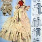 3039 Burda Christening Dress Jumpsuit Bonnet Pattern sz 3mo-24mo UNCUT