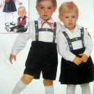 Vintage 8366 Toddler German Costume Pattern size 2 UNCUT 1987