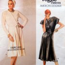 1750 Vogue Designer Geoffrey Beene Front Pleated Dress sz 10 UNCUT