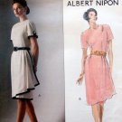 2498 Vogue Designer Albert Nipon Overlay Dress Pattern sz 6-8 UNCUT