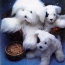 "Vtg 9208 Adorable Stuffed SHEEPDOG & PUPPY Pattern sz 15.5"" & 23"" UNCUT 1979"