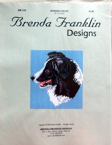 Brenda Franklin BORDER COLLIE DOG Cross Stitch Petite Point Chart Pattern
