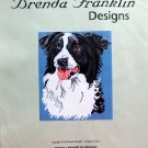 Brenda Franklin BORDER COLLIE DOG Cross Stitch Petite Point Chart Pattern