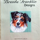 Brenda Franklin AUSTRALIAN SHEPHERD DOG Cross Stitch Petite Point Chart Pattern