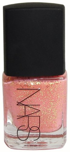 NARS ~ SUPER ORGASM ~ Nail Polish .25 oz (peachy pink with gold glitter)