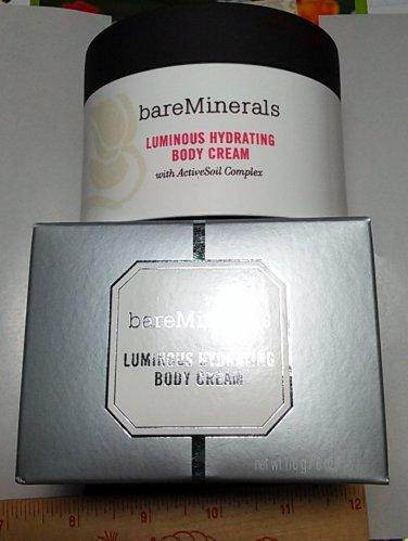 BareMinerals Luminous Hydrating Body Cream 170g / 6 oz Full Size Boxed