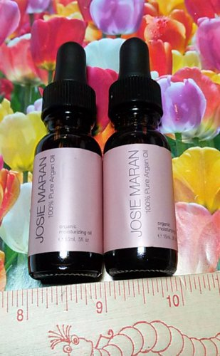 Josie Maran 100% Pure Argan Oil Lot of 2 x .5 oz / 15 ml Travel Size