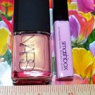 Nars Nail Polish ~ ORGASM ~ Full Size + Smashbox Lip Gloss ~ POUT ~ Travel Size