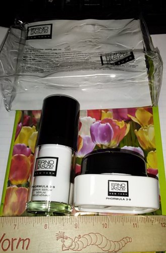 Erno Laszlo Phormula 3-9 Repair Duo - CREAM + SERUM .5 oz EACH Travel Size + Bag