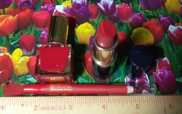 Estee Lauder ~ Pure Color Lipstick + Stay In Place Lip Liner + Pure Color Nail Polish ~ Travel Size