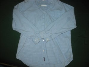 Old Navy Blue and White Checkered Button-up Polo Size 16