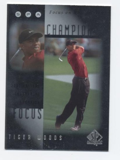 TIGER WOODS 2001 SP Authentic ROOKIE Insert FC-8