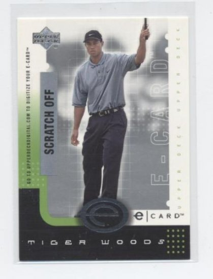 TIGER WOODS 2001 Upper Deck eCard ROOKIE Unscratched