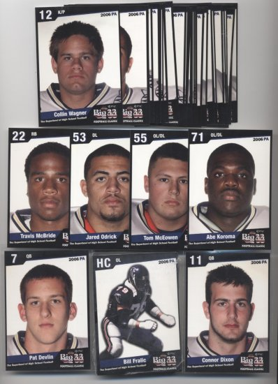 2006 Big 33 High School PA Penn Football SEALED set