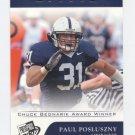 PAUL POSLUSZNY 2007 Press Pass Trophy Club #72 ROOKIE Penn State PSU Bills