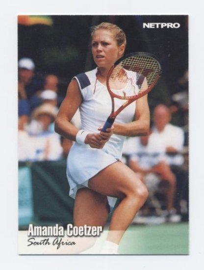 AMANDA COETZER 2003 NetPro #58 ROOKIE South Africa