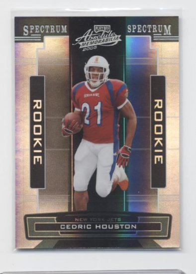 CEDRIC HOUSTON 2005 Absolute Spectrum ROOKIE #/100 Jets