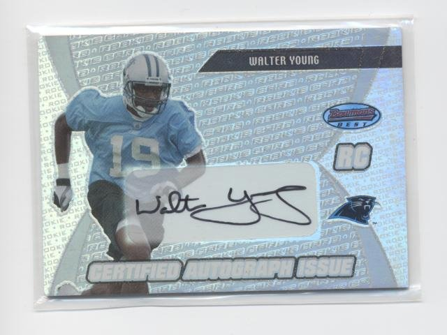 WALTER YOUNG 2003 Bowman's Best AUTOGRAPH Auto ROOKIE
