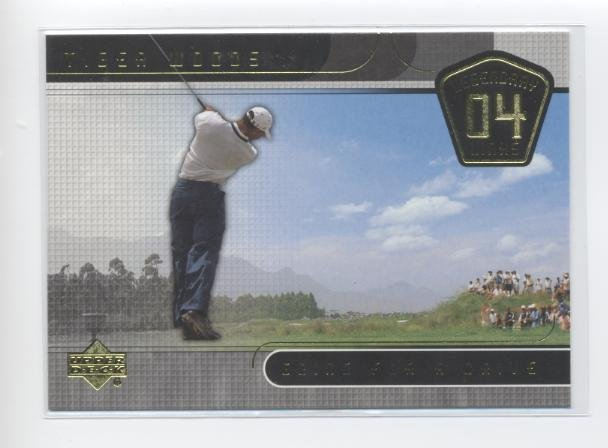 TIGER WOODS 2004 UD Legendary Links Going for a Drive