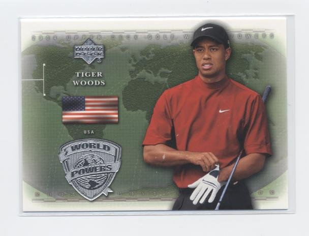 TIGER WOODS 2004 Upper Deck World Powers #91 PGA