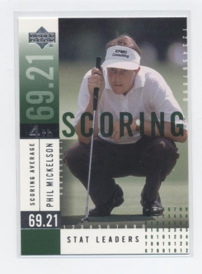 PHIL MICKELSON 2002 Upper Deck UD Stat Leaders #SL10 ROOKIE