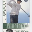 PHIL MICKELSON 2002 Upper Deck UD Winning Touch ROOKIE