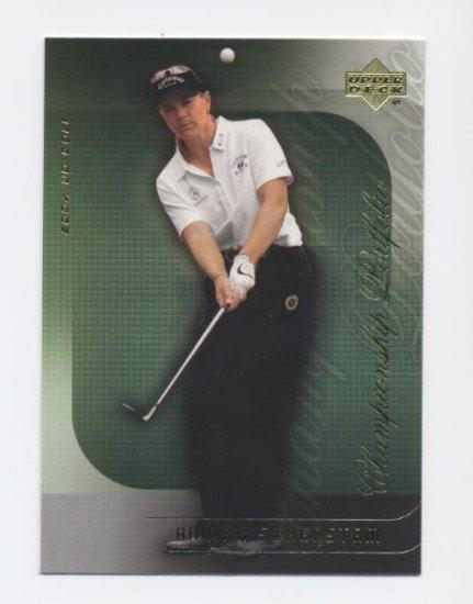 ANNIKA SORENSTAM 2004 Upper Deck Championship Portfolio #31 LPGA