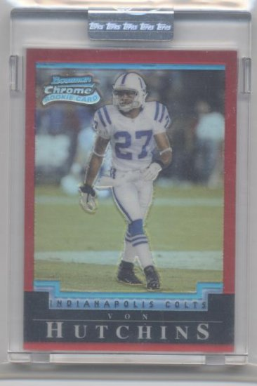 VON HUTCHINS 2004 Bowman Chrome RED Uncirculated ROOKIE
