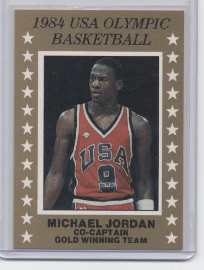 MICHAEL JORDAN 1984 USA Olympics GOLD card
