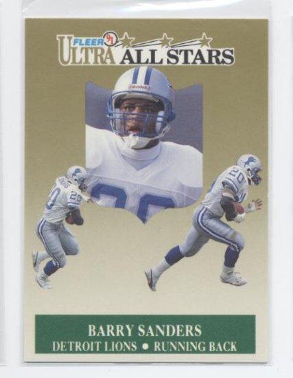 BARRY SANDERS 1991 Fleer Ultra All-Stars INSERT Lions