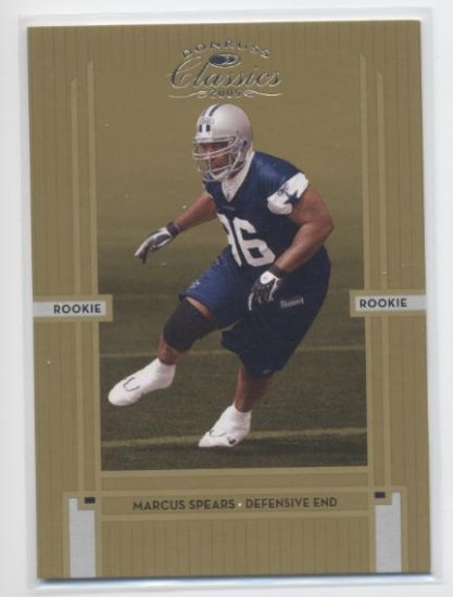 MARCUS SPEARS 2005 Donruss Classics ROOKIE Cowboys #d