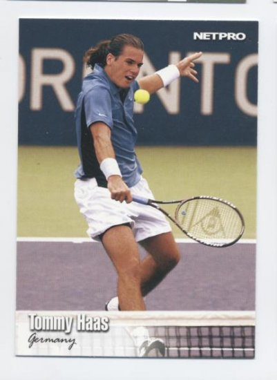 TOMMY HAAS 2003 NetPro #9 ROOKIE Germany