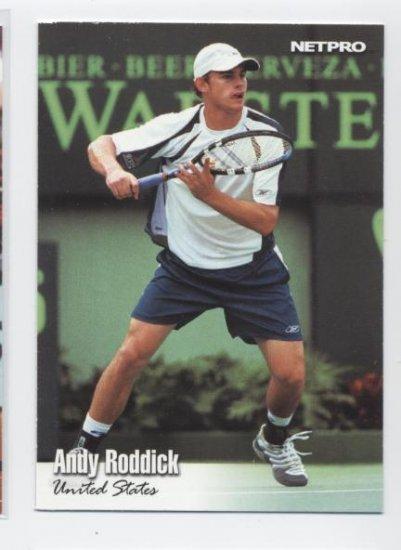ANDY RODDICK 2003 NetPro #4 ROOKIE USA