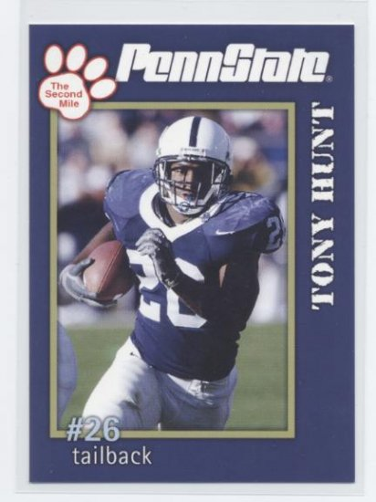 TONY HUNT 2005 Penn State Second Mile College card PRE-ROOKIE Philadelphia Eagles