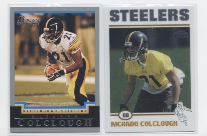 RICARDO COLCLOUGH 2004 Topps Chrome ROOKIE Steelers