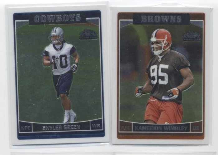 SKYLER GREEN 2006 Topps Chrome ROOKIE Dallas Cowboys LSU TIGERS