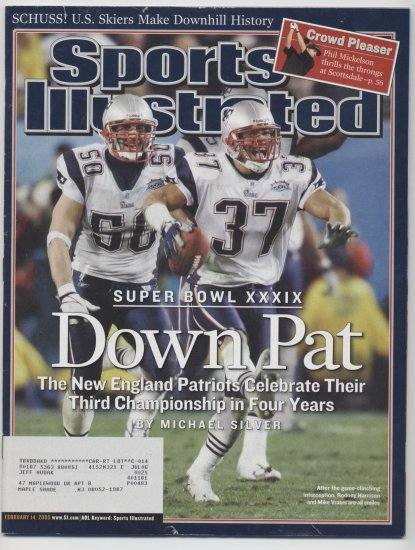 2005 Sports Illustrated NE PATRIOTS Super Bowl cover