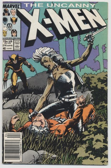 Marvel comics: The Uncanny X-Men #216 April 1987