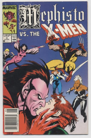 Marvel comics: Mephisto vs. The X-Men #3 June 1987