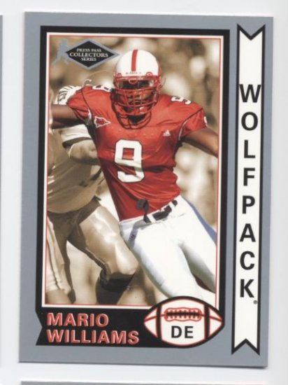 MARIO WILLIAMS 2006 Press Pass Silver Collectors Series