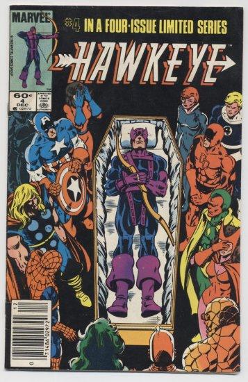 Marvel Comics: Hawkeye #4 of 4 Limited Series Dec. 1983