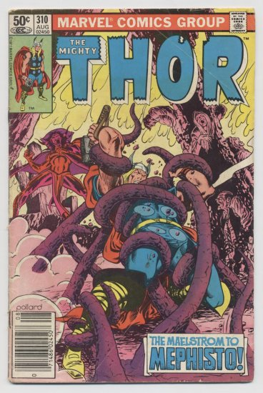 Marvel Comics: The Mighty Thor vs. Mephisto #310 1981