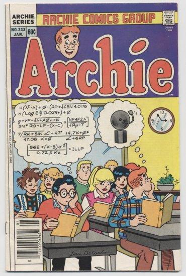 Archie Comics Group: Archie #333 January 1985
